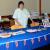 Wendy (Mrs. Union Jack man) getting ready to offer her wonderful British food, and cups of tea to the British Gala visitors.